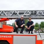 Behielten den Überblick: Wehrführer Stefan Birke (li.) und Pastor Christopher Fock