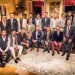 Kevin Pander (vorn Mitte) ist einer der 20 Männer, die das Herz der Bachelorette erobern wollen Foto: MG RTL D / Frank Irlenborn