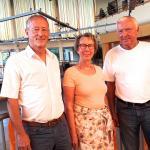Der neu gewählte Vorstand des Schulverbands Rugenbergen (v.li.): Jochen Haines, Anke Rohwer-Landberg, Helmut Timm