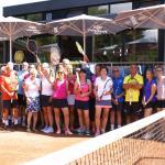 Die gutgelaunten Teilnehmer freuten sich auf den Start des Turniers