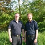 Freuten sich über die gelungene Veranstaltung: (v.l.) Klaas Seehaus, stellvertretender Wehrführer und Holger Rechter, Wehrführer der Freiwilligen Feuerwehr Ellerbek.
