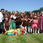Zünftig in Mittelaltertracht feierte das Team des Hauses am Rehhagen.