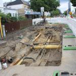 Bauarbeiten auf der Kieler Straße B4