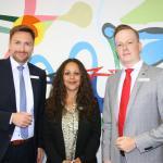 Oliver Eggerstedt (von links), Rosa Ceballo Brian und Oliver Rudat kamen in die Dorfgeflüster-Redaktion.