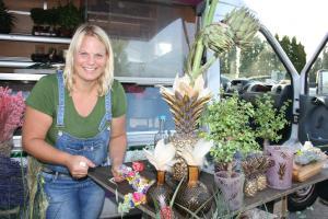 Blütenkränze und tolle Arrangements gab es am Stand von Maike Hansen zu bewundern.