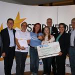 """2500 Euro für Integrationsprojekte und den """"Stern des Sports"""" in Bronze gewann der TSV Wedel."""