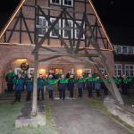 Der Musikzug Hasloh verbreitet Weihnachtsstimmung. Foto: Musikzug FF Hasloh