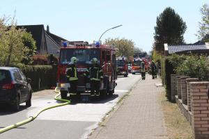 Feuer in Ellerbek